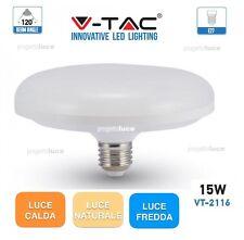 LAMPADINA LED E27  DISCO 15W SMD UFO BIANCA CALDA NATURALE FREDDA VT-2116