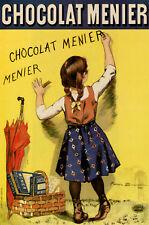 Chocolate ad POSTER.Chocolate Menier.Kid Decor Art.Interior design.1833