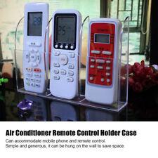 Transparent Air Conditioner Remote Control Stand Holder Case Storage Box OB