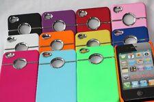 iPhone 4 / 4S  Case  Hülle Schutzhülle metal Ring + 2 Displayschutzfolie TOP390