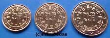 Portugal 1+2+5 Euro Cent Münzen Euromünzen coins Stempelglanz BU Auswahl Jahre