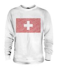 Svizzera Scarabocchiato Bandiera Unisex Maglione Regalo Schweiz Suisse