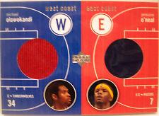 2003-04 UD Michael Olowokandi Jermaine O'Neal West Coast East Coast Dual Jersey