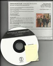TOKYO POLICE CLUB Your English PROMO DJ CD Single 2008