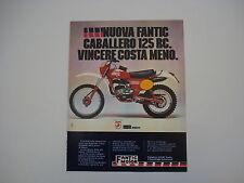 advertising Pubblicità 1978 MOTO FANTIC CABALLERO RC 125
