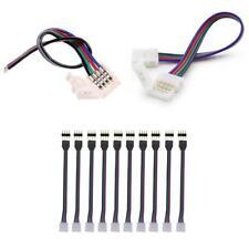 10 mm 4 Pin Conector De Tira de Luz RGB LED Acoplador Adaptador Snap Clip Para PCB de alambre
