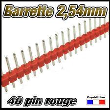 930R# barrette rouge mâle  40 pin  2,54mm sécable 2 à 25 pcs - arduino DIY