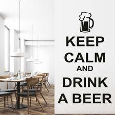 Blijf rustig Bier drinken Muursticker WS-19686