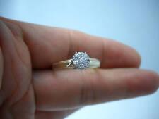 STUNNING 14KT Y/G LADIES DIAMOND CLUSTER RING G73094