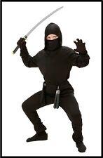 Ninja Krieger schwarz Ninjakostüm Kostüm Karneval Fasching Jungenkostüm , (K)