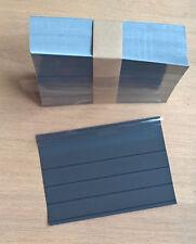 50,100, 500,1000 Einsteckkarten / Steckkarten C6 mit Deckfolie, 4 Streifen