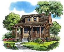 "Cozy Mountain Log Cabin Blueprint Drawings - 7 Shts - 24"" x 36"""