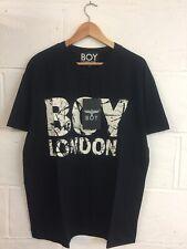 Boy London Unisexe Effet Vieilli Imprimé T Shirt Noir Tailles S, M, L-Vintage Punk