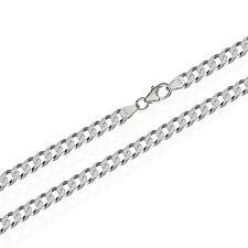 6,00mm breit echte 925er Sterlingsilber Panzerkette 6x diamantiert Silberkette