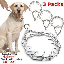 3Pack Dog Training Choke Chain Collar Adjustable Metal Steel Prong Pinch X-Heavy