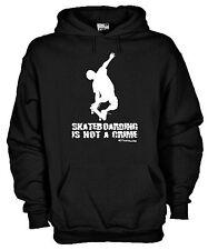 Felpa Skateboarding Q01 Is Not a Crime Skate Park Free Style hoodie Cotone