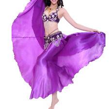 NEW 360 Full Circle Shining Satin Long Skirt Swing Belly Dance Costumes PlusSize