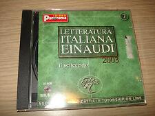 CD-ROM LETTERATURA ITALIANA EINAUDI 2003 N° 7 IL SETTECENTO WINDOWS MAC