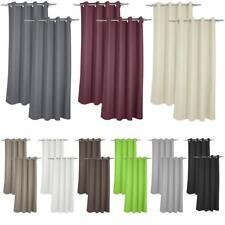 2er Pack Gardine Verdunklungsgardine Vorhang Thermogardine mit Metallösen