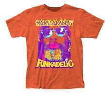 Authentic GEORGE CLINTON P-Funk Slim-Fit T-Shirt Heather Orange S-2XL NEW