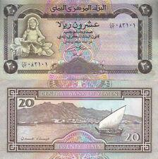 Variazione Multi-Listing 2 denominazioni Note di Yemen UNC