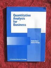 QUANTITATIVE  ANALYSIS FOR  BUSINESS