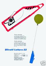 OLIVETTI-lettera 22-palloncino-RATE-leggera-IVREA-1956