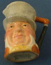 Vintage Charles Dickens señor Micawber Jarra de caracteres pequeños Lancaster Sandland Ware