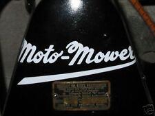 Moto-Mower decal Briggs Stratton antique engine