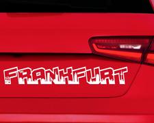 Autoaufkleber Frankfurt Aufkleber Schriftzug Skyline  11 Farben 2 Größen