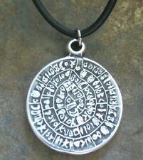 Amulett Kette Herren Halskette Leder schwarz Scheibe Surf Lederkette Herrenkette