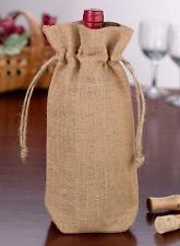 Personalized Burlap Wine Bag Wedding Reception Table Decoration - 4 Designs