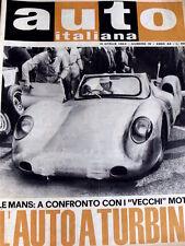 Auto Italiana 16 1963 Le Mans a confronto con vecchi motori Auto a turbina