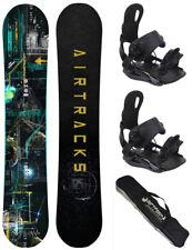 Snowboard Set AIRTRACKS Data Rocker+Bindung Star oder Master+Bag/150 155 160 164