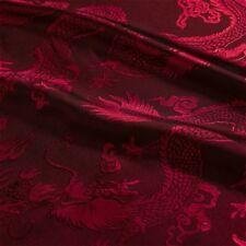 Chinese Brocade Fabric Dragon Design Cloth Dress Crafts Satin Retro DIY Costume