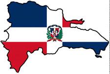 "Auto Aufkleber Dominikanische Republik Dominicana Car Sticker 11x8 cm 4.3""x3.1"""