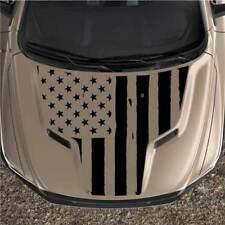 American Flag Dodge Ram Rebel 1500 Sport Hood Truck Graphic Decal Vinyl 2pc