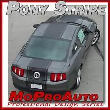 Mustang PONY Hood CENTER Stripe Decals Graphics - 3M Pro Grade 2010 * 206