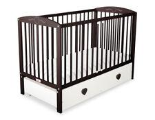 Babybett / Kinderbett mit Herzen 120x60cm + Matratze + Maxi Bettkasten + Rollen