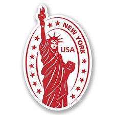 2 x USA America Sticker Car Bike iPad Laptop New York Statue of Liberty #4230