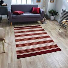 Lavabile A Righe Moderno Rosso Bordeaux Beige Antiscivolo Cucina Sala Tappeto Runner Mat