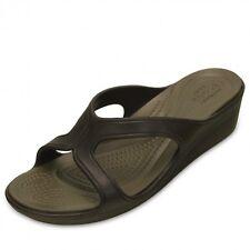 Crocs Women's Sanrah Brown Slip-on Sandals Wedge Sandals