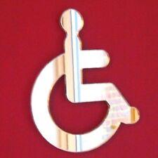 DISABILI WC Porta Firmare SPECCHIO (specchio in acrilico, diverse dimensioni disponibili)