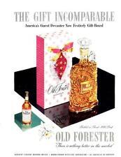 1953 Old Forester Whisky Vintage Bottle Decanter PRINT AD