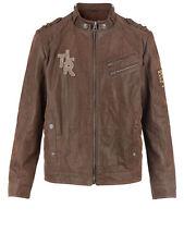 Señores de marcas chaqueta de cuero marrón. cuero auténtico. talla 50, talla 52, talla 54 041693931 2