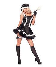 New Womens Halloween Black & White 5th Ave. Maid Costume Set SZ S/M