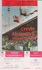 Football Programme+ UNUSED Match Ticket>CREWE ALEXANDRA v STOCKPORT CO Aug 1994