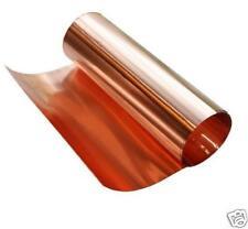 """COPPER thin metal foil sheet  roll 1 mil (.001"""")  6"""" X 1089'   CU110 ASTM B-152"""