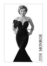 Vintage Marilyn Monroe Vestido Sirena de terciopelo roja patrón de costura 1950 Baile de Graduación Boda