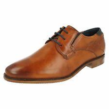 Homme en Cuir Cognac BUGATTI Lacets Chaussures Style - 311-25101-1100-6300